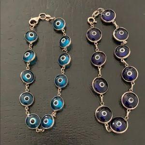 Evil eye 925 silver bracelets
